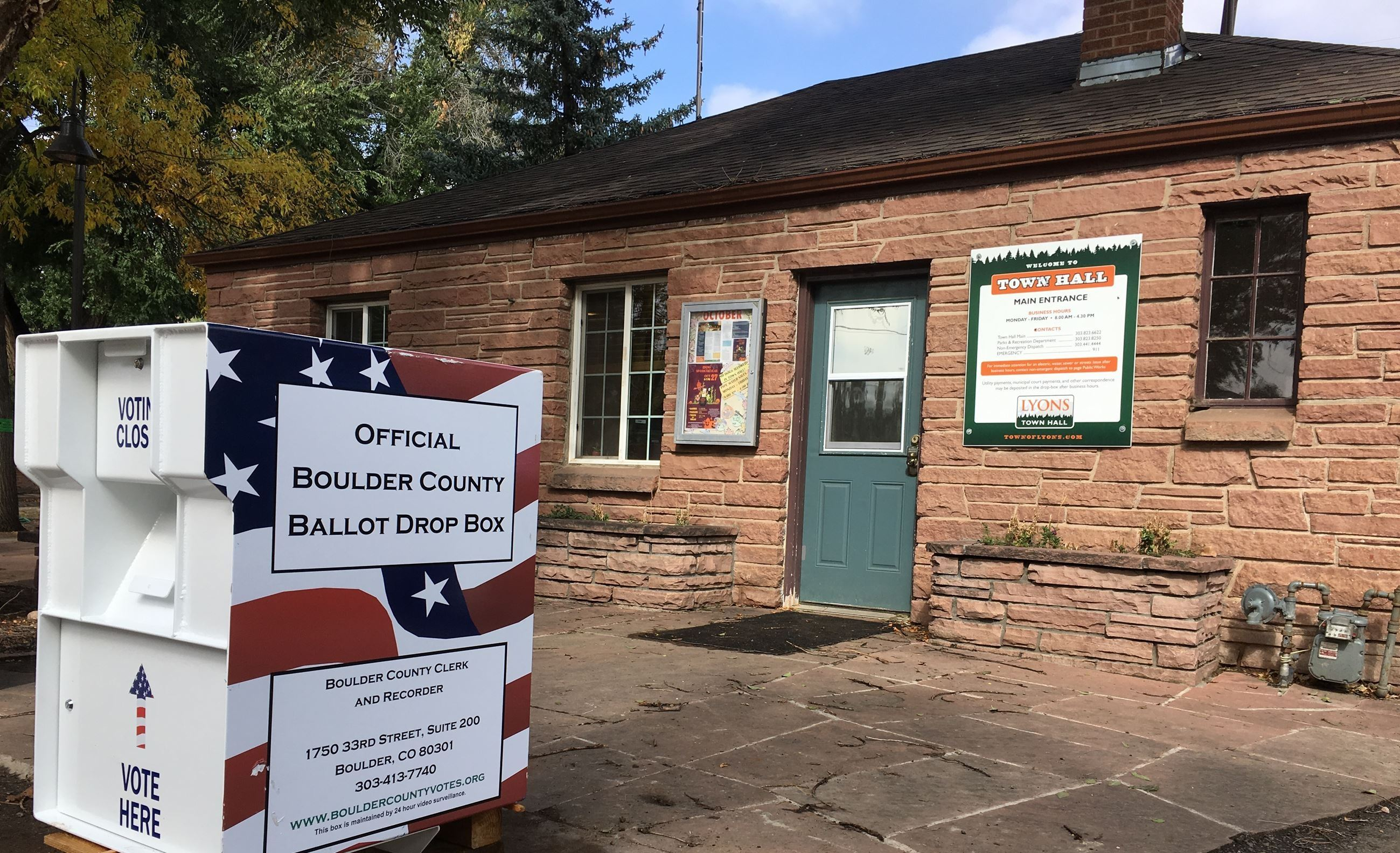 Lyons Town Hall 24-Hour Ballot Return Box