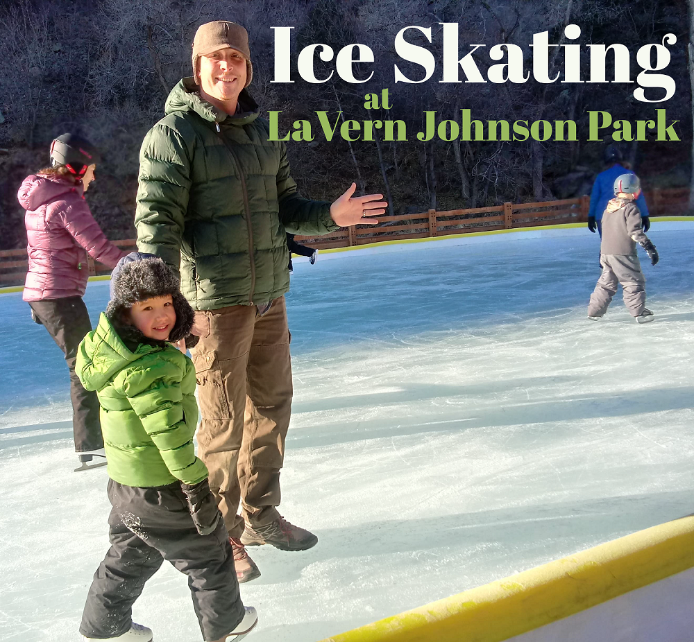 Ice skating at LaVern M. Johnson Park